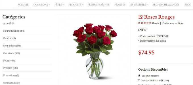 Free eCommerce Website for Florists